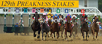 BALTIMORE, MD - The start of the 2004 Preakness Stakes at Pimlico race track May 15, 2004