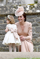 May 20, 2017 - Englefield, England, United Kingdom - CATHERINE, DUCHESS OF CAMBRIDGE with daughter PRINCESS CHARLOTTE at St Mark's Church Englefield in Berkshire for Pippa's wedding. (Credit Image: © Exclusivepix media via ZUMA Press)