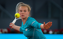 May 4, 2019 - Madrid, MADRID, SPAIN - Katerina Siniakova of the Czech Republic in action during her first-round match at the 2019 Mutua Madrid Open WTA Premier Mandatory tennis tournament (Credit Image: © AFP7 via ZUMA Wire)