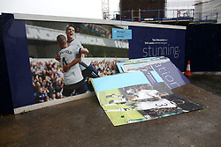 6 June 2017 - Demolition of White Hart Lane<br /> Discarded photo boards with the ironic caption of Stunning<br /> Photo: Mark Leech