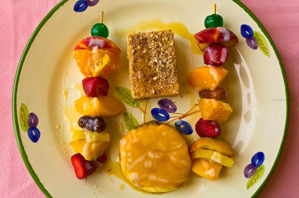 Fruit dessert at the Hotel Mehari Beach, Tabarka, Tunisia