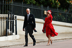 The Duke of Kent and the Duchess of Gloucester arrive for the wedding of Princess Eugenie to Jack Brooksbank at St George's Chapel in Windsor Castle.