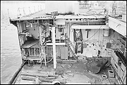 """Ackroyd 19047-R2-11 """"Zidell Exploration. Rochester Museum & Science Center"""" """"Scrapping USS Rochester. October 8, 1974"""""""