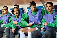 Nuno Gomes und Cristiano Ronaldo (POR) auf der Spielerbank © Andy Mueller/EQ Images