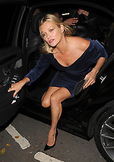 Kate Moss seen arriving at private members club Annabel's - 8 Sep 2017