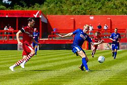 Josh Clackstone of Alfreton Town clears the ball - Mandatory by-line: Ryan Crockett/JMP - 07/07/2018 - FOOTBALL - North Street, Alfreton - Alfreton, England - Alfreton Town v Doncaster Rovers - Pre-season friendly