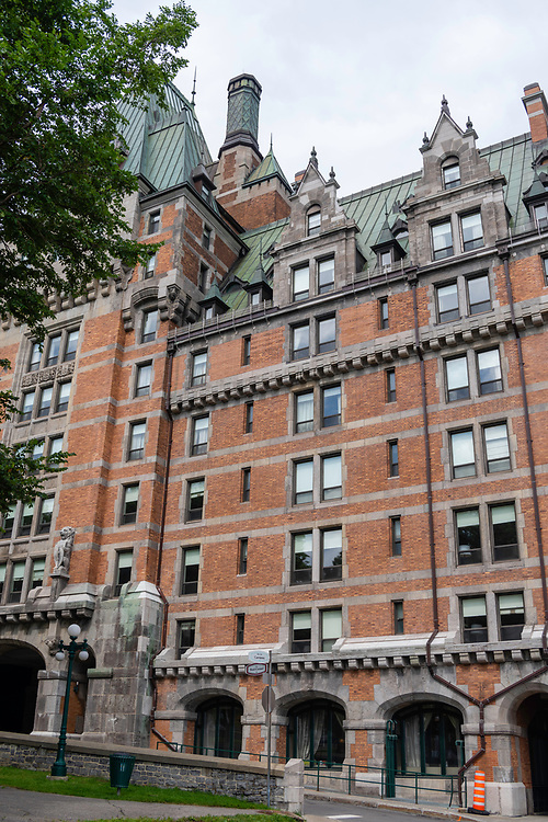 Outside of the Chateau Frontenac, Quebec, Canada.