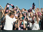 Dulwich Hamlet FC win promotion after a 4-3 penalty shootout against Hendon FC during the Bostik Premier League play off final on 7th May 2018 at Imperial Fields Stadium, South London in the United Kingdom. Dulwich Hamlet was founded in 1893 and both teams play in the Isthmian League Premier Division, a regional mens football league covering London, East and South East England. Next season they will play in the National League South.