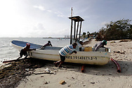 Inhabitants of Mexican Caribbean take precautions due to the arrival of Tropical Storm Zeta, which has become a Category 1 Hurricane, and it is forecast to arrive in Quintana Roo during the night on October 26, 2020 in Cancun, Mexico