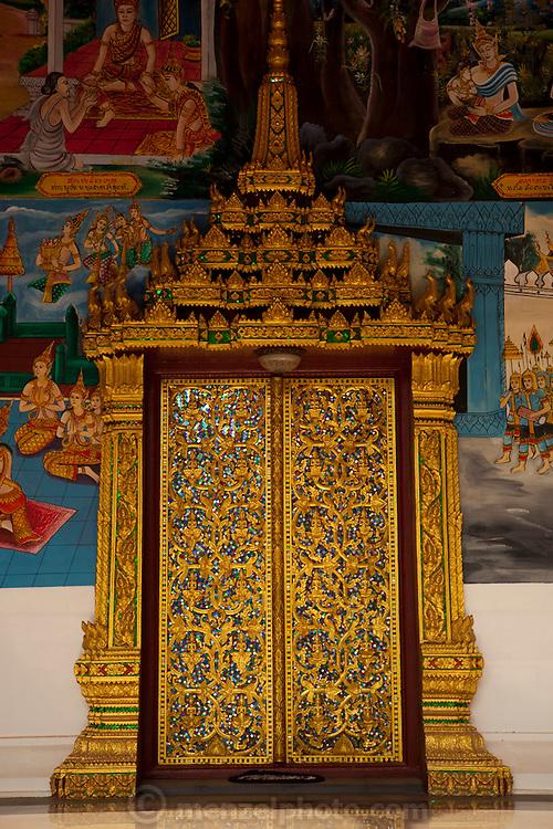 Vientiane, Laos. Buddhist temple along Setthahirath Road.