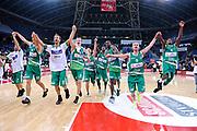 DESCRIZIONE : Pesaro Lega A 2011-12 Scavolini Siviglia Pesaro Sidigas Avellino<br /> GIOCATORE : team<br /> CATEGORIA : team esultanza<br /> SQUADRA : Sidigas Avellino<br /> EVENTO : Campionato Lega A 2011-2012<br /> GARA : Scavolini Siviglia Pesaro Sidigas Avellino<br /> DATA : 27/11/2011<br /> SPORT : Pallacanestro<br /> AUTORE : Agenzia Ciamillo-Castoria/C.De Massis<br /> Galleria : Lega Basket A 2011-2012<br /> Fotonotizia : Pesaro Lega A 2011-12 Scavolini Siviglia Pesaro Sidigas Avellino<br /> Predefinita :