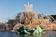 Buckingham fountain in Grant Park Chicago, IL, USA.