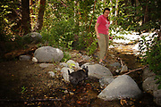 Fanny and Jackie at Switzer Falls, June 12, 2014