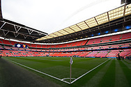 General view of Wembley Stadium before the The FA Cup Final match between Manchester City and Watford at Wembley Stadium, London, England on 18 May 2019.