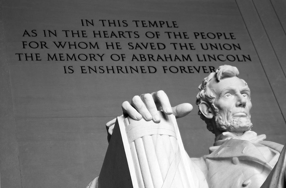 The Lincoln Memorial honors the 16th President of the United States. Located on the National Mall in Washington, DC, the monument contains a large seated sculpture of Abraham Lincoln and inscriptions of two well-known speeches by Lincoln, The Gettysburg Address and his Second Inaugural Address. It has been listed on the National Register of Historic Places since October 15, 1966.