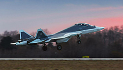 April 14, 2017 - Russia - Two-seater Sukhoi PAK FA (T-50) fifth-generation fighter aircraft. Photo from https://www.facebook.com/sedan88 (Credit Image: © Russian Look via ZUMA Wire)