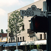 Reis Amerika, bord Rodeo Drive Los Angeles
