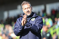 Forest Green Rovers assistant manager, Scott Lindsey during the EFL Sky Bet League 2 match between Forest Green Rovers and Exeter City at the New Lawn, Forest Green, United Kingdom on 4 May 2019.