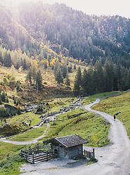 THEMENBILD - Wanderweg Richtung Talschluss, aufgenommen am 13. Oktober 2019 in Hinterglemm, Oesterreich // Hiking trail towards the end of the valley in Hinterglemm, Austria on 2019/10/13. EXPA Pictures © 2019, PhotoCredit: EXPA/ JFK