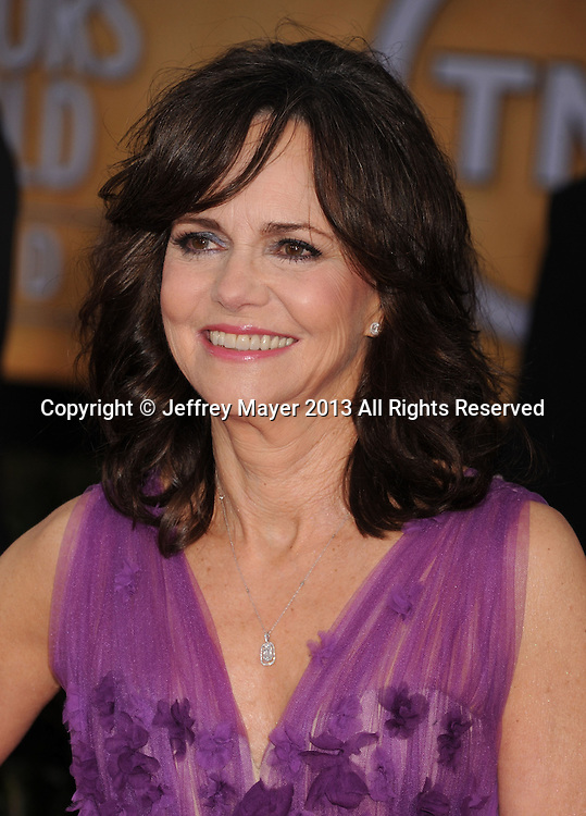 LOS ANGELES, CA - JANUARY 27: Sally Field arrives at the 19th Annual Screen Actors Guild Awards at the Shrine Auditorium on January 27, 2013 in Los Angeles, California.