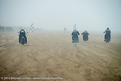Left to Right, Richard Hutchinson Jr, Josh Kohn, Matt Walksler and Grant Peterson battle it out on the sand at TROG West - The Race of Gentlemen. Pismo Beach, CA, USA. Saturday October 15, 2016. Photography ©2016 Michael Lichter.