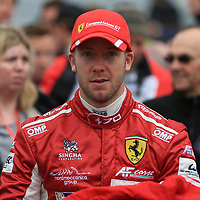 #71, AF Corse Ferrari, Ferrari 488 GTE, driven by Davide Rigon, Sam Bird, FIA WEC 2017 6 Hours of Silverstone, Silverstone International Circuit, 14/04/2017,