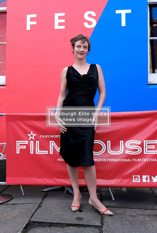 Edinburgh International Film Festival 2019<br /> <br /> Hurt By Paradise (World Premiere)<br /> <br /> Stars and guests arrive on the red carpet for the world premiere<br /> <br /> Pictured: Camilla Rutherford<br /> <br /> Aimee Todd | Edinburgh Elite media