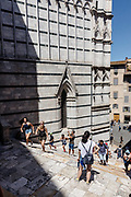 Italy, Siena, the Palio: daily life in the contradas, waiting for the final race, the Battistero at the Back of the Duomo