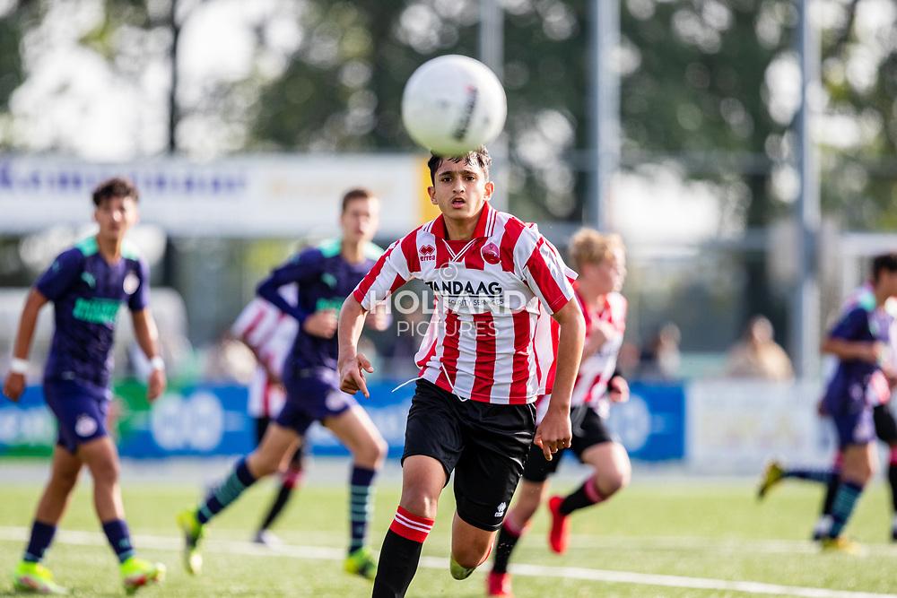 ALPHEN AAN DEN RIJN, NETHERLANDS - OCTOBER 2: #7 Rawan Amin (Alphense Boys) during the Divisie 1 A NAJAAR u15 match between Alphense Boys and PSV at Sportpark De Bijlen on October 2, 2021 in Alphen aan den Rijn, Netherlands