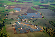 Aerial view of Serpa solar power plant.