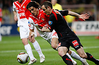FOOTBALL - FRENCH CUP 2009/2010 - 1/2 FINAL - AS MONACO v RC LENS - 13/04/2010 - PHOTO PHILIPPE LAURENSON / DPPI - ALEJANDRO ALONSO (ASM)