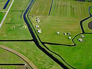 Nederland, Noord-Holland, Bergen, 07-05-2021; Bergermeerpolder. Ruïnes van door de Duitse bezetters gebouwde bunkers, Tweede Wereldoorlog. Omgeving Kolonel Sneepweg, voormalig  militair vliegveld Bergen.<br /> Bergermeerpolder. Ruins of bunkers built by the German occupiers, World War II. Surroundings Colonel Snape road, former Bergen military airfield.<br /> luchtfoto (toeslag op standaard tarieven);<br /> aerial photo (additional fee required)<br /> copyright © 2021 foto/photo Siebe Swart