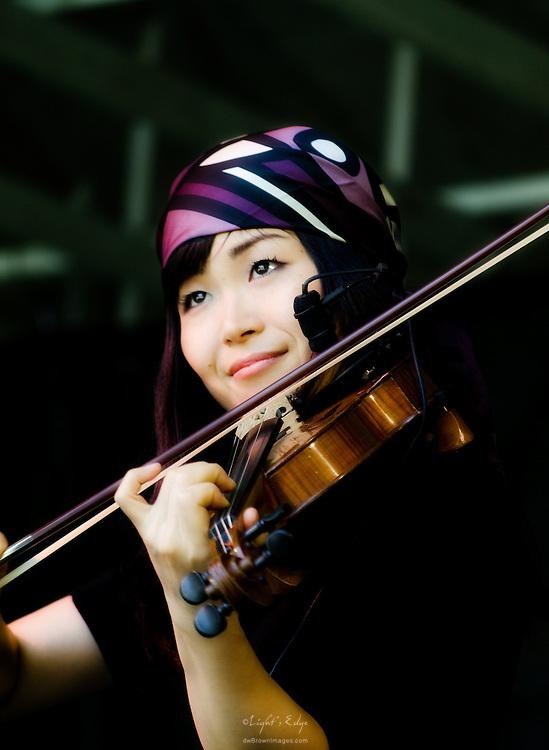 Tomoko Omura on fiddle with RUNA at The Appel Farm's 2011 Arts & Music Festival in Elmer, NJ.