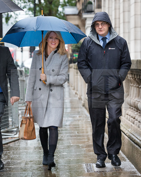 © Licensed to London News Pictures. 10/06/2019. London, UK.  Tory leadership candidate, Esther McVey and Phillip Davies MP arrive to make a speech at a Bruges Group event held in Westminster. Many of the Tory leadership candidates are holding launch events in the capital today. Photo credit: Vickie Flores/LNP