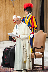 Pope Francis met the delegates of the CISL, led by General Secretary Annamaria Furlan during an audience at the Vatican.