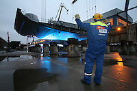 Keel Laying of Oasis of the Seas at Aker Yards, Turku, Finland.