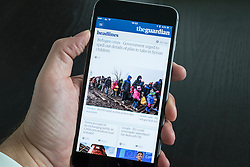 The Guardian news app on iPhone 6 Plus smart phone