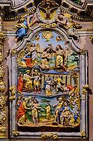 France, Finistère (29), l'enclos paroissial de Lampaul-Guimiliau, l'église Notre-Dame, le retable de la Passion datant du XVIIe siècle // France, Finistere (29), the parish enclosure of Lampaul-Guimiliau, the Notre-Dame church