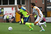 Derby County's Ikeche Anya and Port Vale's Lawrie Wilson during the Pre-Season Friendly match between Port Vale and Derby County at Vale Park, Burslem, England on 18 July 2017. Photo by John Potts.