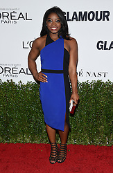 November 14, 2016 - Hollywood, California, U.S. - Simone Biles arrives for the Glamour Women of the Year Awards 2016 at the Neuehouse Hollywood. (Credit Image: © Lisa O'Connor via ZUMA Wire)