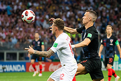 July 11, 2018 - Moscow, Russia - 180711 Kieran Trippier of England competes for the ball with Ivan Perisic of Croatia during the FIFA World Cup semi final match between Croatia and England on July 11, 2018 in Moscow..Photo: Petter Arvidson / BILDBYRÃ…N / kod PA / 92085 (Credit Image: © Petter Arvidson/Bildbyran via ZUMA Press)