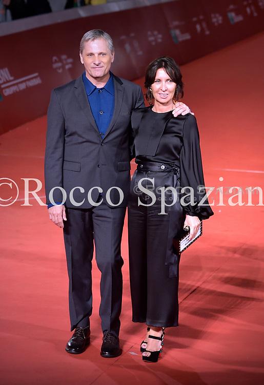 Viggo Mortensen and Raffaella Leone walks the red carpet ahead of the 'Green Book' screening during the 13th Rome Film Fest at Auditorium Parco Della Musica on October 24, 2018 in Rome, Italy.