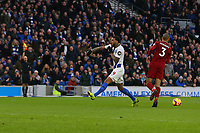 Football - 2018 / 2019 Premier League - Brighton and Hove Albion vs. Liverpool<br /> <br /> Jurgen Locadia of Brighton shows his frustration after being flagged offside during the Premier League match at The Amex Stadium Brighton  <br /> <br /> COLORSPORT/SHAUN BOGGUST