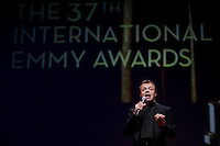 Graham Norton, host, at the 2009 International Emmy Awards Gala hosted by the International Academy of Television Arts & Sciences in New York.  ***EXCLUSIVE***