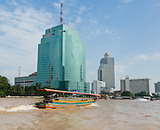 Asia Contemporary: A long tail boat on Chao Phraya River, in Bangkok, Thailand