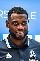 Henri Bedimo of Marseille during Olympique Marseille Press Conference - French Ligue 1 at Stade Velodrome on August 4, 2016 in Marseille, France. (Photo by Alexandre Dimou/Icon Sport)