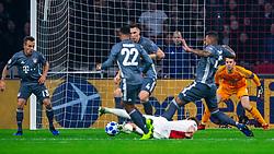 12-12-2018 NED: Champions League AFC Ajax - FC Bayern Munchen, Amsterdam<br /> Match day 6 Group E - Ajax - Bayern Munchen 3-3 / (L-R) Rafinha #13 of Bayern Munich, Niklas Sule #4 of Bayern Munich, Daley Blind #17 of Ajax, Jerome Boateng #17 of Bayern Munich, Manuel Neuer #1 of Bayern Munich