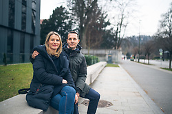 Portrait of Primoz in Mojca, therapists, on February 3, 2020, in Ljubljana, Slovenia. Photo by Matic Ritonja / Sportida