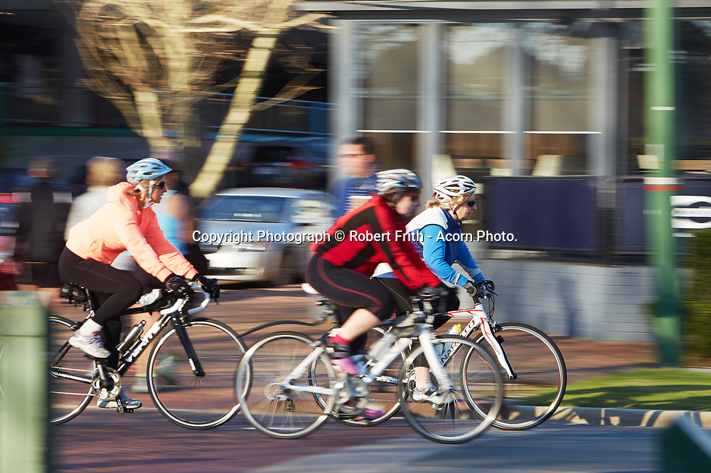 Cyclists on Mends St