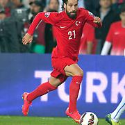 Turkey's Olcay Sahan during their UEFA Euro 2016 qualification Group A soccer match Turkey betwen Czech Republic at Sukru Saracoglu stadium in Istanbul October 10, 2014. Photo by Aykut AKICI/TURKPIX